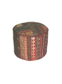 Indian Pouf Pouffe Pouffes Foot Stool Bohemian Patchwork Pouf Ottoman Round Ottoman