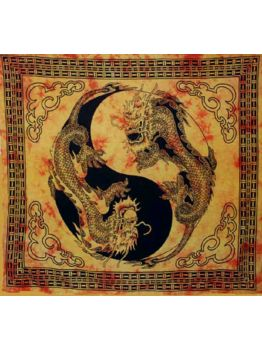 Dragon Tapestry Bedspread Hippie Cotton Ethnic Bohemian Tapestries