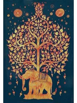 Elephant Tree Psychedelic Tapestry Throw Tapestries Wall Hanging