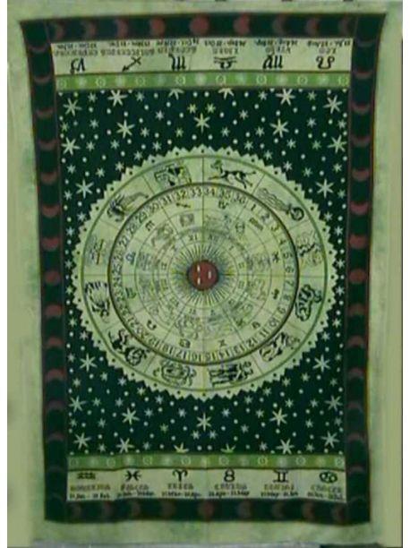 Hippie Celtic Zodiac Tapestry/Horoscope