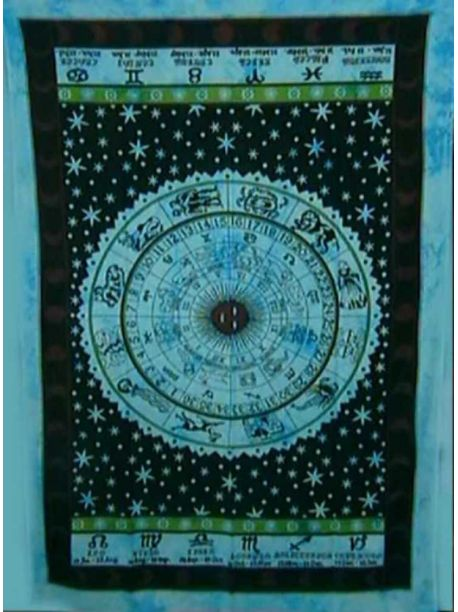 Hippie Celtic Zodiac Tapestry/Horoscope