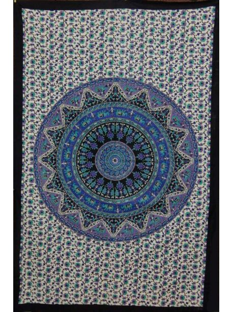 Mandala Tapestries Color Block Clothes Decor