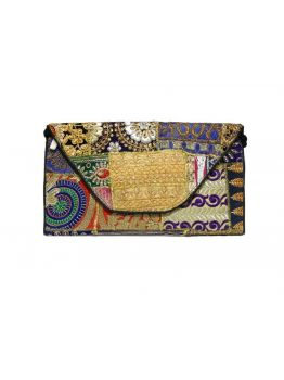 Vintage Clutch Purse Indian Multicolor Clutch Handbag