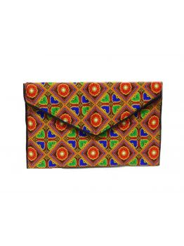 Handmade Multicolor Clutch Indian Vintage Bag Handbag Beaded Clutch Traditional Purse