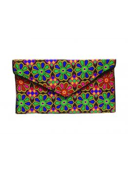 Handmade Clutch Indian Embroidered Purse Elegant Women Handbag