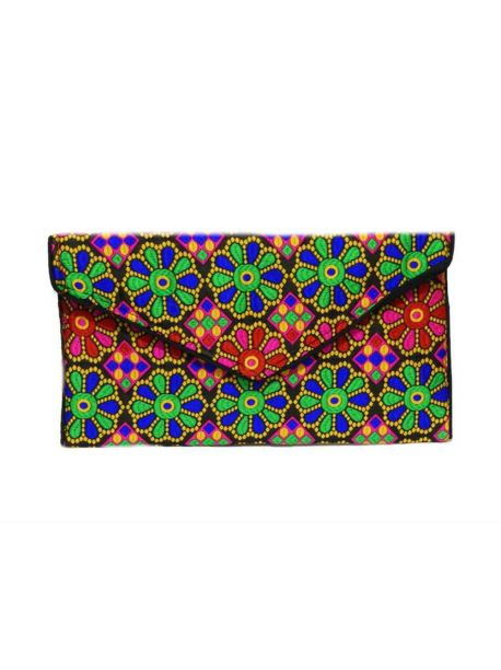 Handmade Cloth Handbags Embroidered Purse Multicolor Patchwork Handbag Clutch Bag