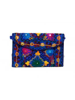Handmade Cotton Multicolor Wedding Style Bag Clutch Indian Purse