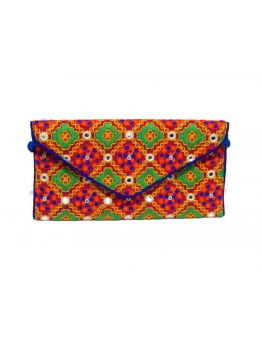 Handmade Fabric Gift Vintage Indian Multicolor Gypsy Hand Beaded Purse Bags