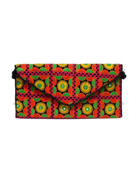 Handmade Multicolor Clutch Indian Vintage Bag Handbag Beaded Clutch Traditional Purse