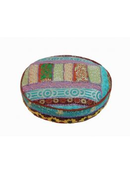 22 inches Large Floor Pillows Indian Poof Pouffe Foot Stool Ethnic Decor