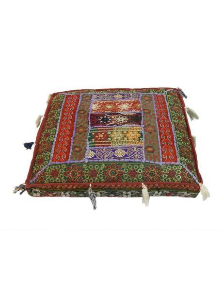 Hand Embroidered Clutch Indian Antique Handbag Multicolor Gypsy Beaded Bag Purse