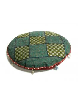 Handcrafted Patchwork Floor Cushion Vintage Embroidered Foot Stole Pouf Pouffe