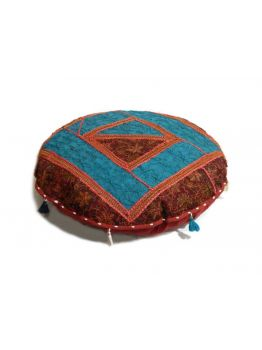 Handmade Round Cushion Covers Indian Poof Pouffe Foot Stool Floor Pillow Ethnic Decor