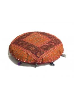 Large Floor Cushion Cover Indian Pouffe Poof Round Pouf FootStool Ethnic Decorative Pillow