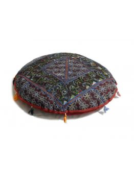 Patchwork Floor Cushion Covers Indian Poof Pouffe Foot Stool Floor Pillow Ethnic Decor
